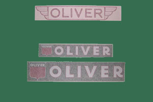 Oliver Implement Decals, Click to ENLARGE!